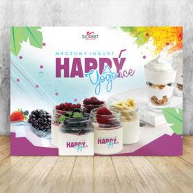 baner reklamowy mrożony jogurt happyice siorbet 200 x 150
