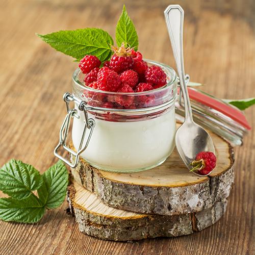 mrożony jogurt deser podania