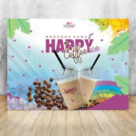 baner reklamowy mrożona kawa happyice siorbet 200 x 150