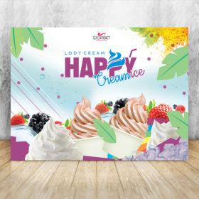 baner reklamowy lody soft włoskie 200 - 150 happyice siorbet