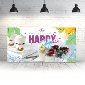 baner reklamowy mrożony jogurt happyice siorbet 100 x 50