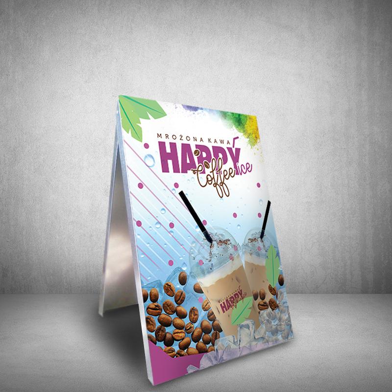 potykacz reklamowy lody kawa mrożona