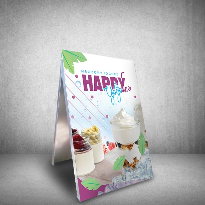 potykacz tablica reklamowa jogurt mrożony