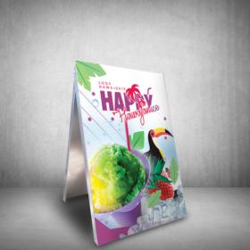 potykacz reklamowy lody hawajskie happy ice